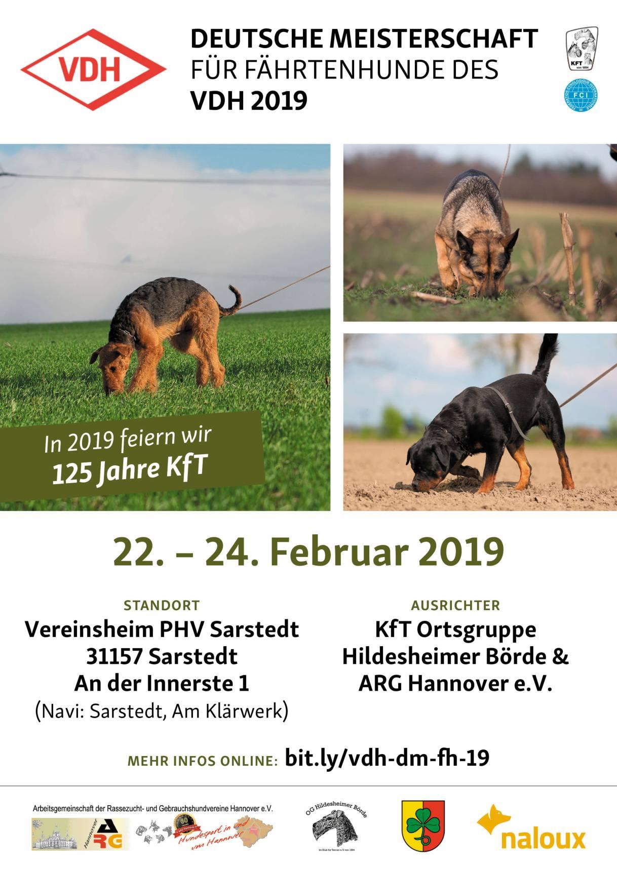 VDH Meisterschaft für Fährtenhunde 2019